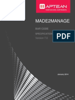 Bar Code Specification Manual