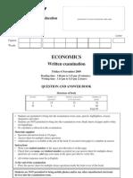 2009 VCE Economics