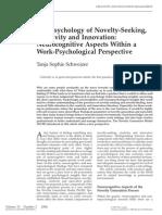 The Psychology of Novelty Seeking 2