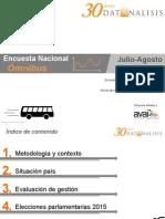 Encuesta OMNIBUS Datanalisis Julio 2015