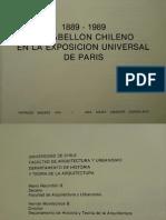 1889-1989. El Pabellón Chileno en La Exposición Universal de Paris