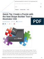 New Shape Builder Tool in Illustrator CS5_ Create a Puzzle