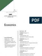2009 HSC Economics