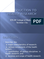 1. Introduction to Health Research
