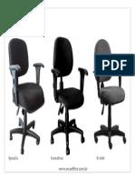 Opções de Cadeira