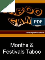 Months Festivals