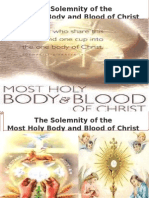 Solemnity of Body and Blood of Christ