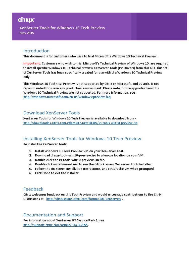 Windows 10 Tech Preview | Windows 10 | Citrix Systems