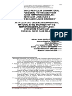 USO DE O DISCO ARTICULAR COMO MATERIAL INTERPOSICIONAL NO TRATAMENTO DA ANQUILOSE TEMPOROMANDIBULAR - REVISTA DA LITERATURA E RELATO DE CASO CLÍNICO CIRÚRGICO