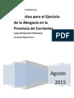Leyes Del Ejercicio Profesional Corrientes