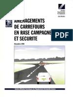 Amenagement Des Carrefours En Rase Campagne Et Securite 1996pdf