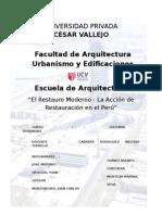 """El Restauro Moderno y   La Acción de Restauración en Perú"""".docx"""