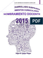 Temario Desarrollado Nombramiento 2015