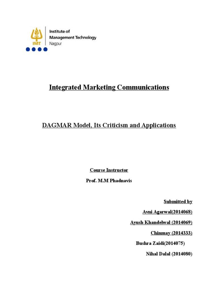 dagmar approach in marketing