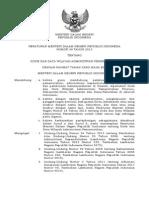 Permen 39 2015 Kode Dan Data Wilayah Administratif Pemerintahan