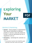 Exploring your Market