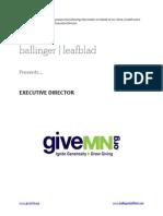 Position Profile - GiveMN - Executive Director
