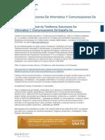 Telefonica Soluciones de Informatica y Comunicaciones de Espana Sa