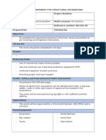 Method Statement - Structural Excavations