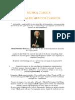 Biografía Musicos Clasicos