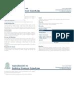 Esp Diseño y Analisis de Estructuras