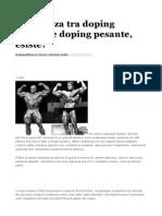 Differenza Tra Doping Leggero e Doping Pesante