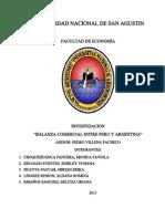 Balanza Comercial Entre Perú y Argentina - UNSA