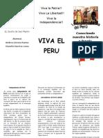 TRIPTICO INDEPENDENCIA DEL PERÚ