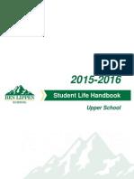 Upper School Student Life Handbook 2015-2016