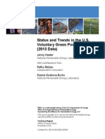 Status and Trends in the US Voluntary Green Power Market 2103 Data