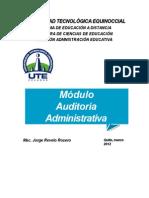 Modulo de Auditoria Administrativa