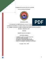 Analisis de las principales causas y consecuencias del comercio informal y su relacion con el desempleo caso de la Av Andres Avelino Caceres distrito de JBYR Arequipa 2015
