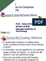 Quine McCluskey