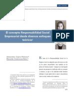 El Concepto de RSE Desde Diversos Enfoques Teóricos 2010