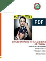 Edward Snowden Ethics