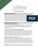 CityDance FAQ 2015-2016