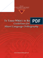 Guidelines for Maori Language Orthography