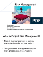 Projectriskmanagement Pmbok5 130627050911 Phpapp01
