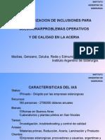Caracterización de Inclusiones Para Solucionar Problemas Operativos y de Calidad en La Acería