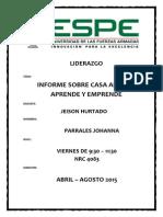 INFORME CASA ABIERTA APRENDE Y EMPRENDE