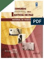 Congreso de Justicia de Paz 2014 - Material de Trabajo