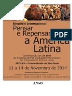 Anais do Simpósio Internacional Pensar e Repensar a América Latina
