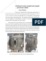 The Xanten Wardt and Carlisle Catapult Finds