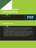 Descripciones petrográficas