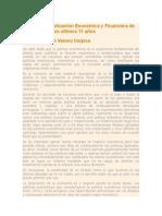 Análisis de La Situación Económica y Financiera de Venezuela en Los Últimos 11 Años