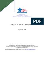 P2016 G2016 Election Calendar