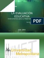 La Evaluación Escolar - 2012