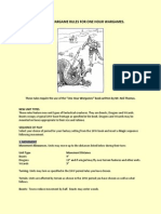 Fantasy Wargame Rules for One Hour Wargames