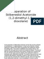Preparation of Stilbenediol Acetonide
