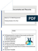 Control of Documents and Record